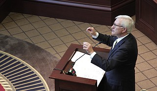 Former Gov. Ronnie Musgrove argued that the Legislature must fully fund the Mississippi Adequate Education Program, based on language set out in the state's constitution; lawyers for the state argued just the opposite.