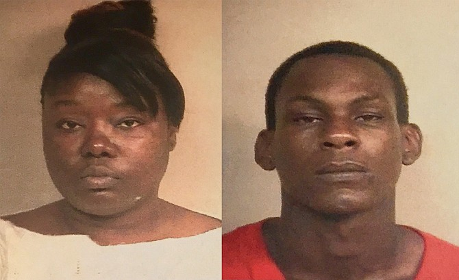 Police charged Lakia Bradley (left) and Kendrick Jackson (right) with three counts of aggravated assault and shooting into an occupied vehicle after a bullet struck a sleeping 9-year-old in the car. Photo courtesy JPD