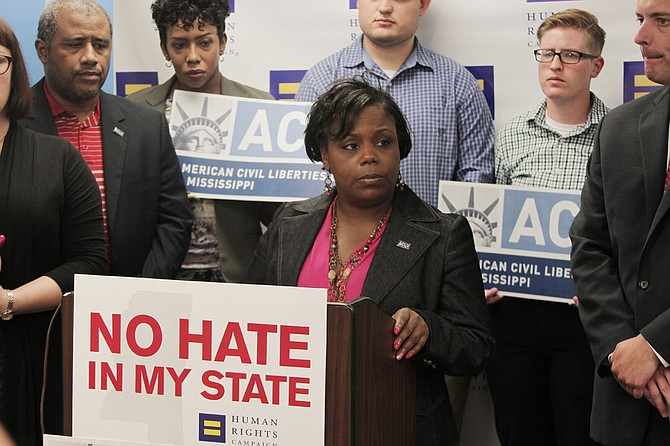 Jennifer Riley-Collins, the executive director of the ACLU of Mississippi, said her organization will proceed with its lawsuit to prove that the House Bill 1523, now a state law, is unconstitutional.