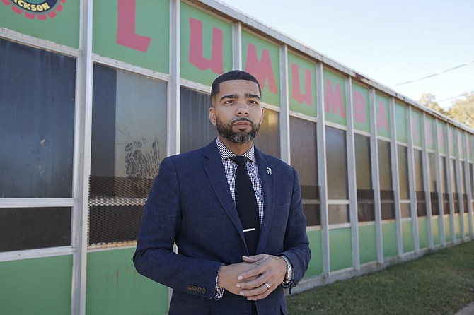 Chokwe Antar Lumumba, a 35-year-old attorney, was inaugurated as mayor of Jackson on Monday. He is one of several municipal leaders in Mississippi who are beginning four-year terms of office.