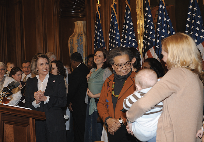 Marian Wright Edelman (center) will travel to three small communities in what remain some of the poorest parts the rural Delta—Glendora, Jonestown and Marks—to examine food insecurity, health and poverty. Trip Burns/File Photo courtesy Flickr/Nancy Pelosi