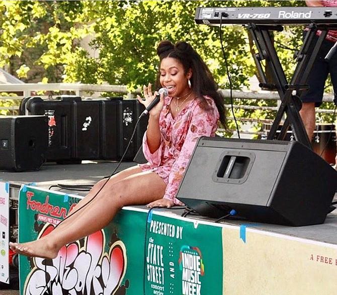 Krystal Jackson performs as alternative-R&B artist Krystal Gem. Photo credit: Olivia DeGrado / Humidity Sound
