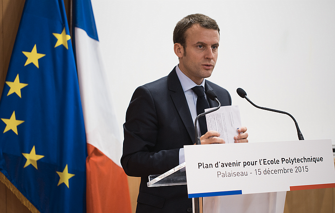 "French President Emmanuel Macron said Thursday it is ""obvious and indispensable"" to have exchanges with U.S. President Donald Trump as the two leaders were set to meet to try to push past major differences and find common ground on security, defense and other issues. Photo courtesy Flickr/Ecole Polytechnique Université Paris-Saclay"