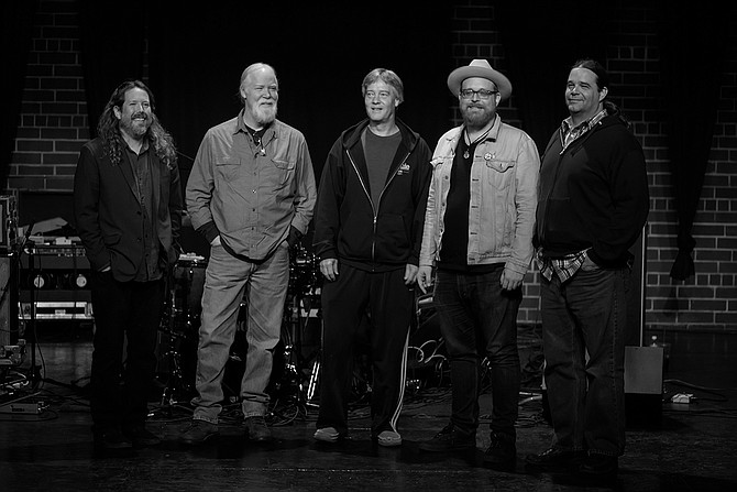 (L-R) Jason Crosby, Jimmy Herring, Jeff Sipe, Kevin Scott and Matt Slocum of Jimmy Herring and the Invisible Whip perform July 20-21 at Duling Hall. Photo courtesy Drew Stawin