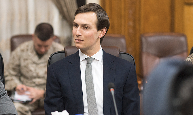 "Senior White House adviser Jared Kushner denied Monday that he colluded with Russians in the course of President Donald Trump's White House bid, declaring in a statement ahead of interviews with congressional committees that he has ""nothing to hide."" Photo courtesy Chairmen of the Joint Chiefs of Staff"