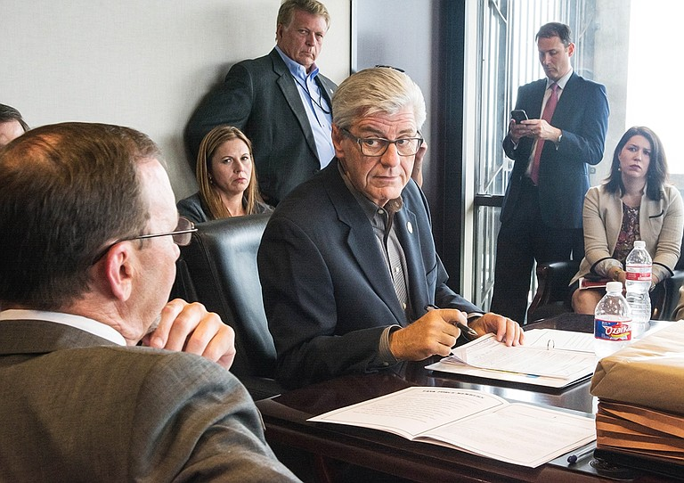 Gov. Phil Bryant said he did not want to wait until January to start implementing some of the recommendations from his Opioid Task Force, which the director of the Mississippi Bureau of Narcotics, John Dowdy (left), is leading. Photo courtesy Cam Bonelli
