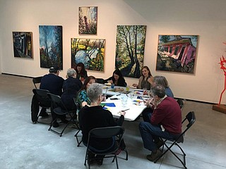 The Art in Mind program at the Mississippi Museum of Art uses art therapy to help those who suffer from memory issues and diseases such as Alzheimer's, which is a type of dementia that causes problems with memory, thinking and behavior. Photo courtesy Art In Mind