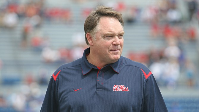 Former Mississippi coach Houston Nutt's civil lawsuit against the school and its athletics foundation has been dismissed by a federal judge. Photo courtesy Ole Miss