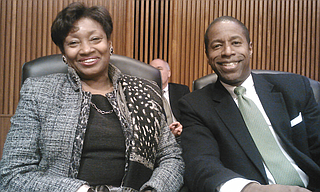 Daniel Loeb issued a statement saying he regrets the language he used in the Facebook post about Senate Minority Leader Andrea Stewart-Cousins, a Yonkers Democrat. Former Senator Malcolm Smith is pictured next to Stewart-Cousins. Photo courtesy Flickr/Malcolm Smith