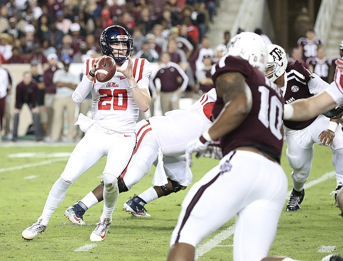 Shea Patterson Photo courtesy Joshua McCoy/Ole Miss Athletics