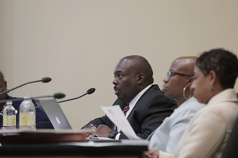 The Jackson Public Schools Board and Interim Superintendent Freddrick Murray (pictured) responded to the State's corrective action plan with improvements, but not enough, a new Mississippi Department of Education audit found.