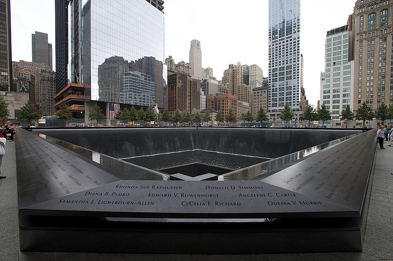 At least 1,000 family members, survivors, rescuers and officials were gathered for the ceremony at the National Sept. 11 Memorial plaza at the World Trade Center. Photo courtesy Flickr/Brian Kusler