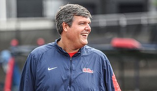 University of Mississippi head coach Matt Luke Photo courtesy Joshua McCoy/Ole Miss Athletics