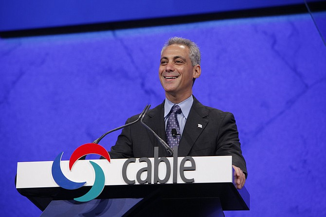 "Mayor Rahm Emanuel has said Chicago won't ""be blackmailed"" into changing its values as a city welcoming of immigrants. Photo courtesy Flickr/The Cable Show"
