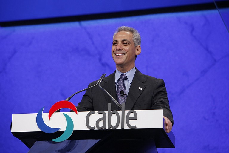 """Mayor Rahm Emanuel has said Chicago won't """"be blackmailed"""" into changing its values as a city welcoming of immigrants. Photo courtesy Flickr/The Cable Show"""