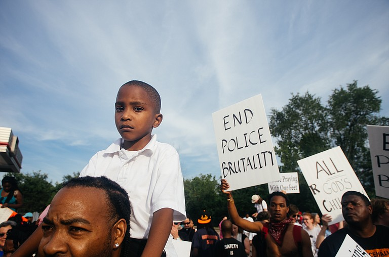 The St. Louis area has a history of unrest in such cases, including after the fatal shooting of Michael Brown in Ferguson in 2014. Protests, some of them violent, erupted after the black 18-year-old, who was unarmed, was killed by a white police officer. The officer wasn't charged but later resigned. Photo courtesy Flickr/Jamelle Bouie