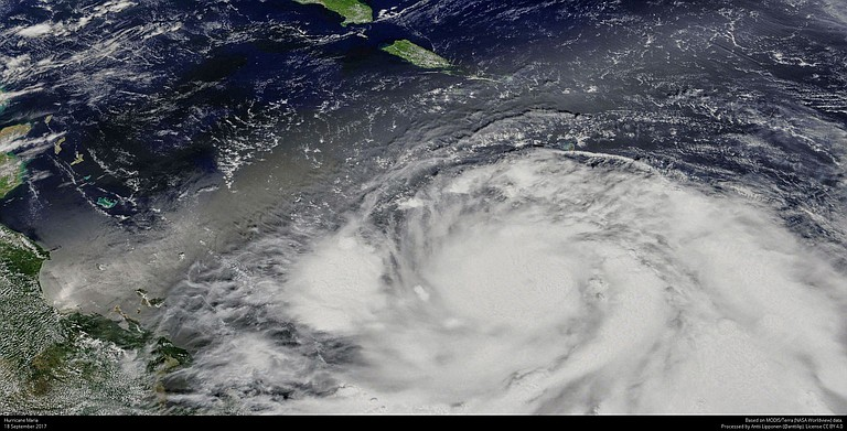 Hurricane Maria grew into a Category 3 storm on Monday as it barreled toward a potentially devastating collision with islands in the eastern Caribbean. Forecasters warned it was likely to grow even stronger. Photo courtesy Flickr/Antti Lipponen