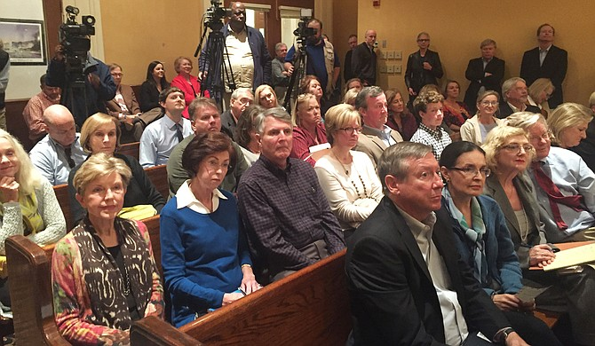 Crowds of neighborhood gate supporters crowded into City Hall chambers multiple times in the last year and a half, including for this November 2016 Council meeting.  They finally won the right to install gates nearly a year later. Tim Summers Jr./File Photo