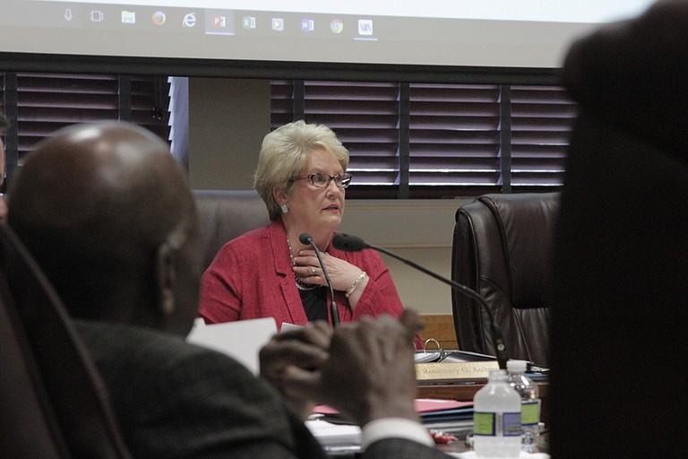 """Mississippi Board of Education Chairwoman Rosemary Aultman says that students in Jackson Public Schools """"are as intelligent and creative as the students in any other public school in our state."""""""