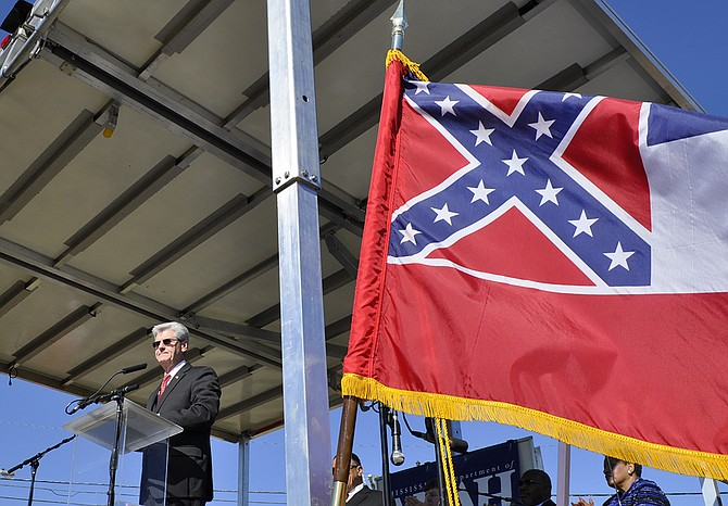 Only 49 percent of Mississippians favor the current state flag, which features a Confederate battle flag in its canton corner. This number is the lowest amount of support for the flag on record. Trip Burns/File Photo