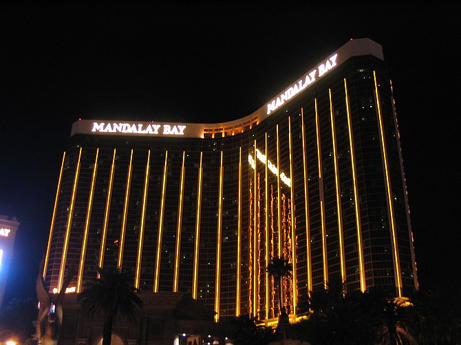 Paddock had stockpiled 23 guns, a dozen of them modified to fire continuously like an automatic weapon inside his 32nd-floor Mandalay Bay hotel room, where he busted out two windows before opening fire on the crowd. Photo courtesy Flickr/Ken Lund