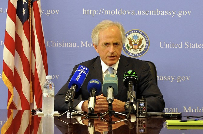 "Sen. Bob Corker, R-Tenn., said on NBC's ""Today"" that the Republican-led Congress should set the course on taxes after Trump shot down at least one GOP idea on retirement plans on Monday. Photo courtesy Flickr/U.S. Embassy Moldova"