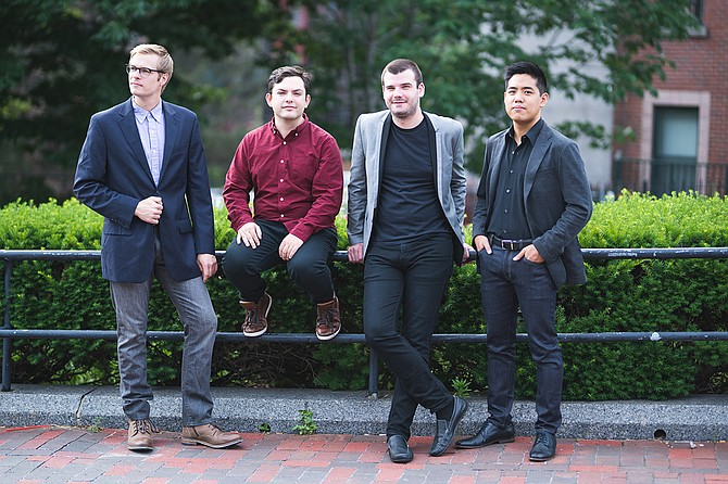 (Left to right) Jesse Christeson, Michael Avitabile, David Dziardziel and Zenas Hsu perform as Hub New Music at Mississippi College in Clinton on Friday, Oct. 27. Photo courtesy Hub New Music