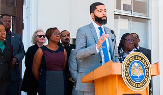 "Mayor Chokwe A. Lumumba announced the formation of a commission with the governor's office, City of Jackson, the W.K. Kellogg Foundation and Jackson Public Schools to work toward solutions in the school district, which just received its second ""F"" grade in a row. Photo courtesy Stephen Wilson"