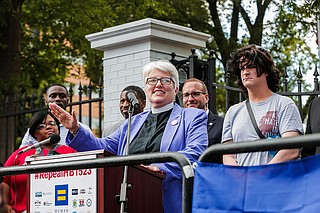 Rev. Susan Hrostowksi, one of the plaintiffs challenging House Bill 1523, spoke out against the legislation before it became state law and challenged it in court when it did.