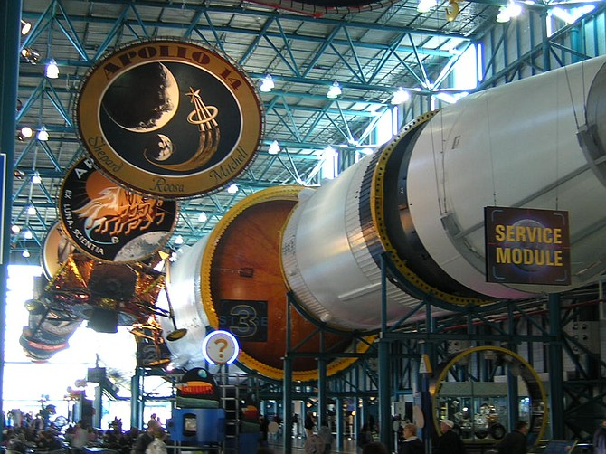 Infinity Science Center is displaying the command module from Apollo 4, an unmanned 1967 mission that successfully demonstrated the full Saturn V rocket and the capsule that would carry men to the moon. Photo courtesy Flickr/Richard Smith
