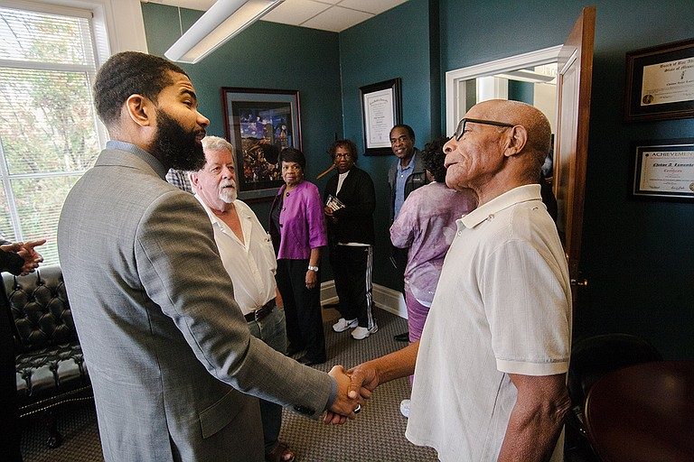 Mayor Chokwe A. Lumumba opened his office chambers to the public on Nov. 3, inviting citizens and media alike on a tour in City Hall. Photo by Stephen Wilson
