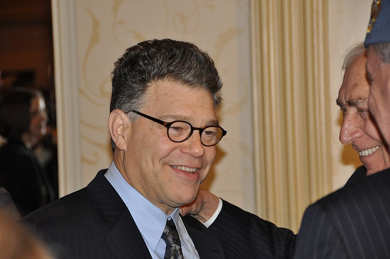 """Trump moved quickly Thursday to condemn accusations against Minnesota Democratic Sen. Al Franken as """"really bad,"""" but he has remained conspicuously silent on the more serious claims leveled against Roy Moore, the Republican in Alabama's special Senate race who faces allegations he sexually assaulted teenage girls decades ago. Photo courtesy Flickr/Veni"""