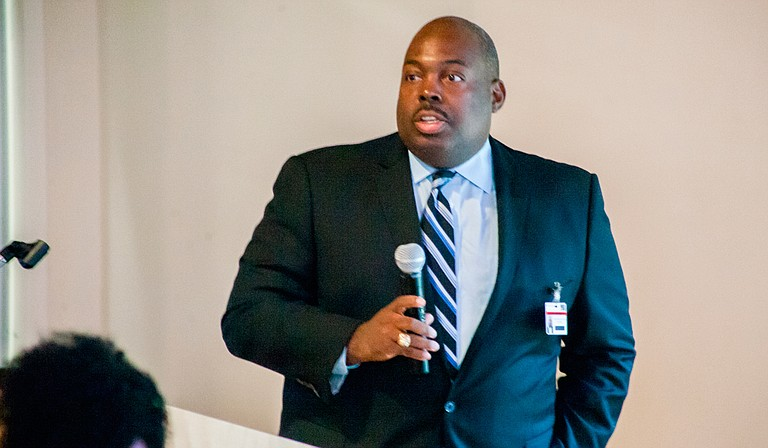 """JPS Interim Superintendent Freddick Murray told the """"Better Together"""" Commission"""" in November that the rate of students referred to the alternative school are down so far in the 2017-2018 school year. Photo by Stephen Wilson"""