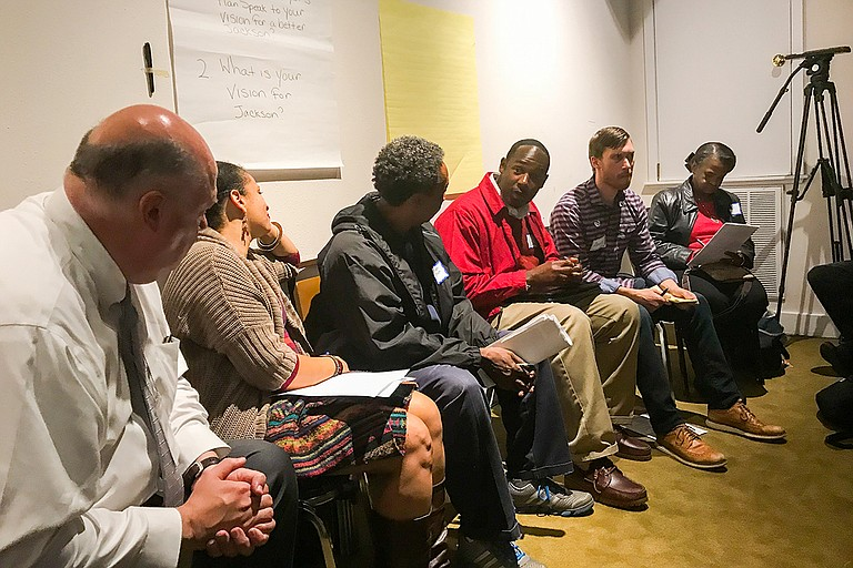 Jackson's first people's assembly took place at the Smith Robertson Museum on Tuesday, Nov. 28, at 6 p.m. A large, diverse crowd attended and shared their vision for the City. Photo by Ko Bragg