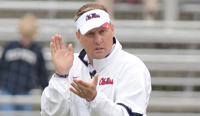 Former Ole Miss coach Hugh Freeze will be suspended for two conference games during the 2018 season if he's employed as a head coach at another school. Several former Ole Miss assistants and staff members received show-cause restrictions, which essentially bans them from working for an NCAA school. Photo courtesy Ole Miss Athletics