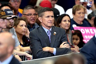 Michael Flynn, the retired general who campaigned at Donald Trump's side and then served as his first national security adviser, pleaded guilty Friday to lying to the FBI about reaching out to the Russians on Trump's behalf and said members of the president's inner circle were intimately involved with—and at times directing—his contacts. Photo courtesy Flickr/Gage Skidmore