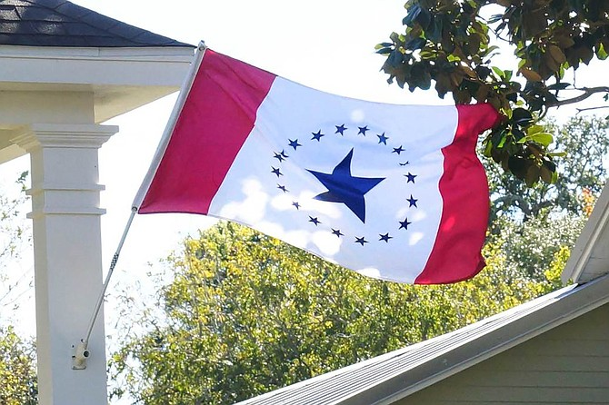 A group of Mississippians, called the Stennis Flag Flyers, is choosing to fly the Stennis flag instead of the current Mississippi flag hoping to sway legislative opinion. Photo courtesy Stennis Flag Flyers