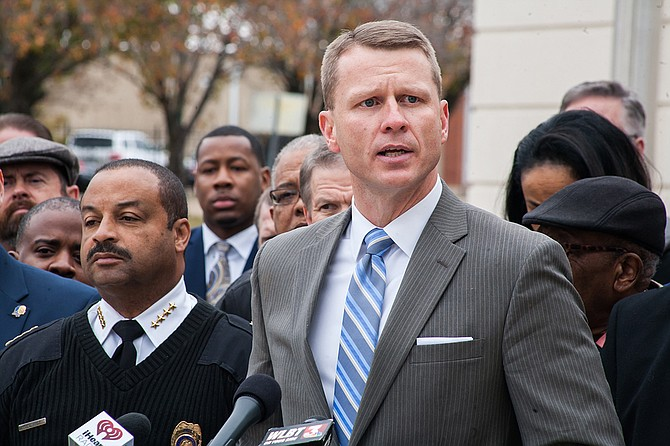 U.S. Attorney Mike Hurst held a press conference to spell out the details of a city, state and federal law enforcement initiative to reduce violent crime called Project EJECT: Empower Jackson Expel Crime Together.