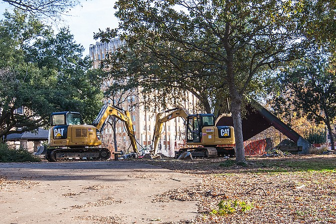 Downtown Jackson's Smith Park is undergoing its second phase of renovations and is currently closed to the public. Stakeholders want to revitalize the park, but do not want to displace homeless residents that make use of it.