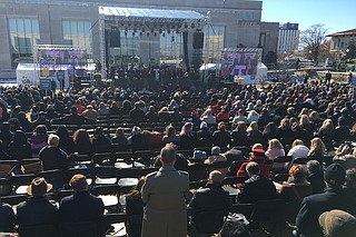 Gov. Phil Bryant was especially tough to hear up there going on about grace and civil-rights history. He, after all, annually proclaims Confederate Heritage Month and had invited Donald Trump to desecrate the grounds of what should have been a packed, glorious, diverse opening.