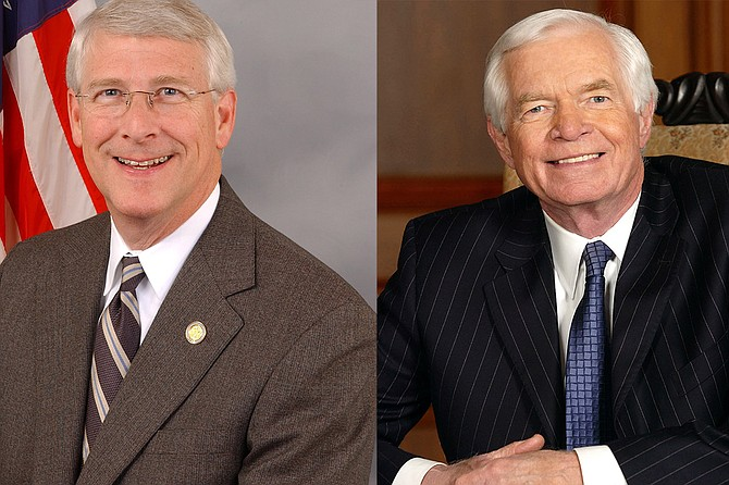 Mississippi Sens. Roger Wicker (left) and Thad Cochran (right) both voted in favor of the massive Republican tax reform legislation, which President Donald Trump signed into law today. Photo courtesy U.S. Senate