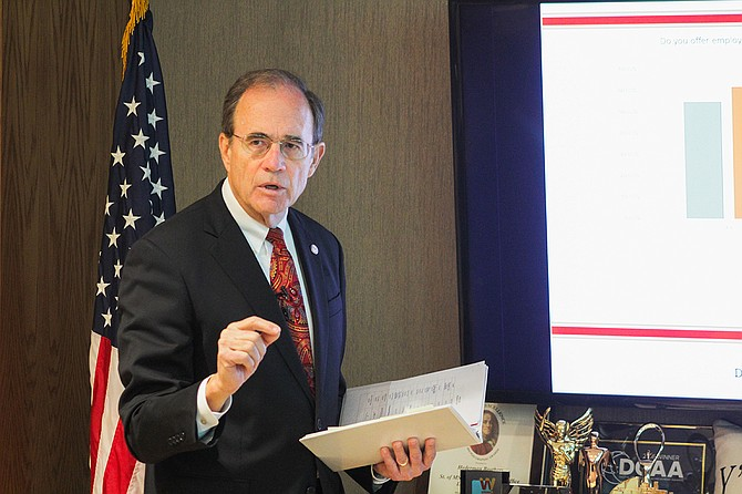 Mississippi Secretary of State Delbert Hosemann hosted a press conference in his office on Dec. 27 to discuss the results of a business survey finding that Mississippi companies need a more educated workforce.