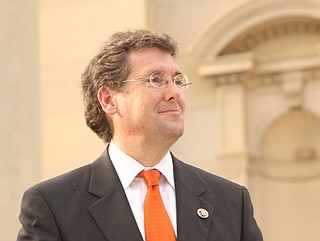 """Rep. Gregg Harper of Mississippi was first elected in 2008. He said Thursday that he never intended to make a career in Congress, and """"10 years will be long enough."""" Photo courtesy Amile Wilson"""