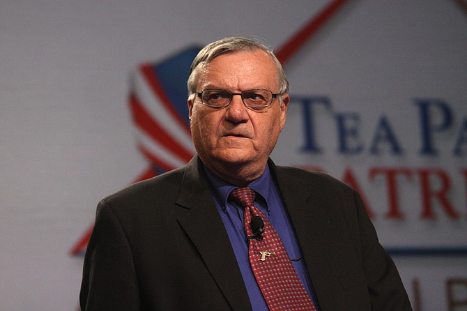 Former Sheriff Joe Arpaio, who was spared a possible jail sentence last year when his political ally President Donald Trump pardoned his criminal conviction for disobeying a judge's order, announced Tuesday he plans to run for the U.S. Senate seat now held by Jeff Flake. Photo courtesy Flickr/Gage Skidmore