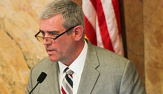 House Speaker Philip Gunn, R-Clinton, pushed a package of transportation funding bills through committees and onto the House floor in the first week of the 2018 legislative session.