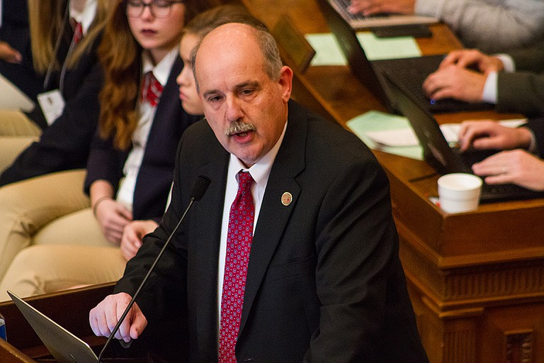 House Education Chairman Richard Bennett, R-Long Beach, would not support any of the 17 amendments Democrats proposed during the four-hour debate to scrap the Mississippi Adequate Education Program on Jan. 17, 2017.