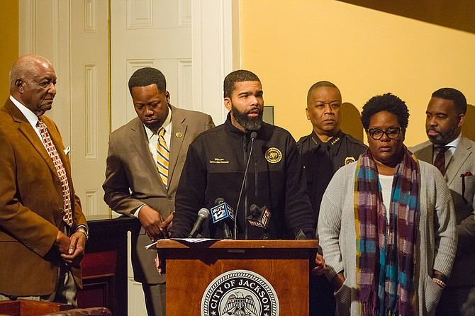 At a press conference on Jan. 19, 2018, Mayor Chokwe A. Lumumba asked for continued patience as his administration works as hard as possible, although he understands parents' and business' frustrations with the water and pipe problems.