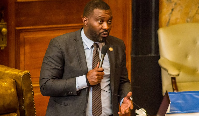 Rep. Bryant Clark, D-Pickens, argued that House Speaker Philip Gunn's new funding formula proposal is not equitable during debate on Jan. 17.