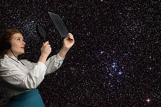 "Annie Cleveland portrays astronomer Henrietta Leavitt in New Stage Theatre's production of ""Silent Sky."" Photo courtesy James Patterson"
