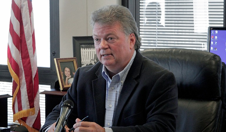 Republican Rep. Mark Baker said the current attorney general, Democrat Jim Hood (pictured), has been awarding no-bid contracts to private lawyers to sue companies on behalf of the state.